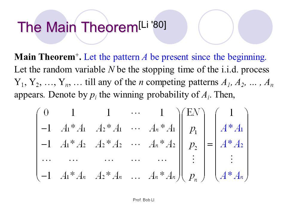 The Main Theorem[Li 80]